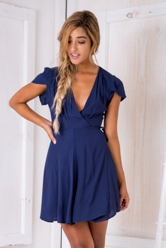 Milly wrap dress -Navy