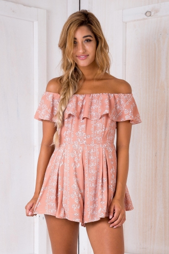 Warm breeze playsuit - Butterscotch print