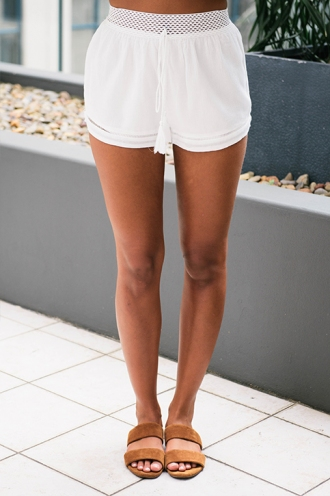 Zoey shorts - White