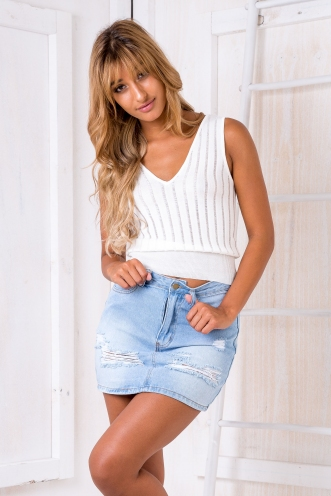 Adda knit top - White