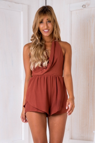 Jamie playsuit - Brown