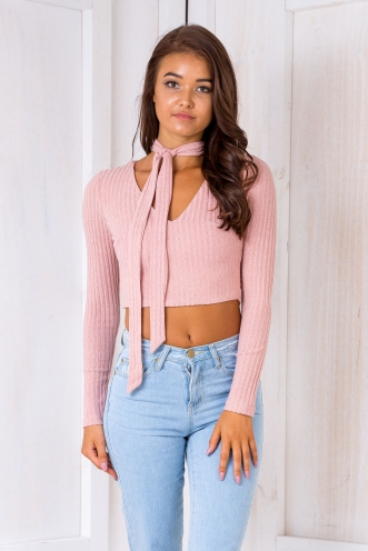 Isla crop top - Pale pink