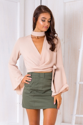 Janna crop top - Caramel