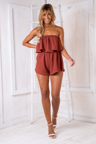 Ashley playsuit - Brown