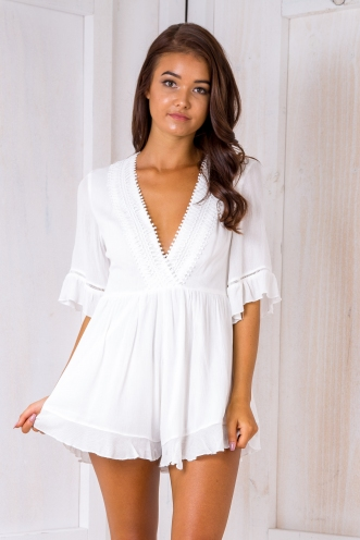 Free spirit playsuit - White