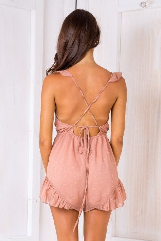 Prue playsuit - Tan spot