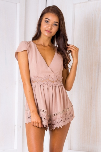 Shanley playsuit - Dark beige
