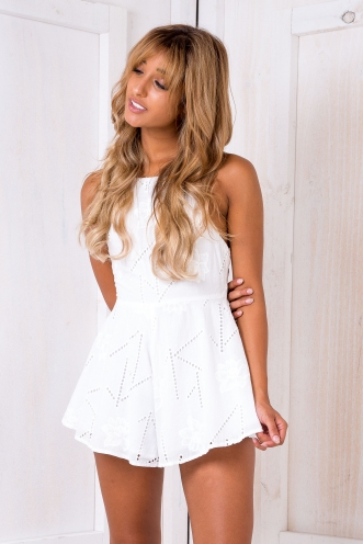 Daisy days playsuit- White
