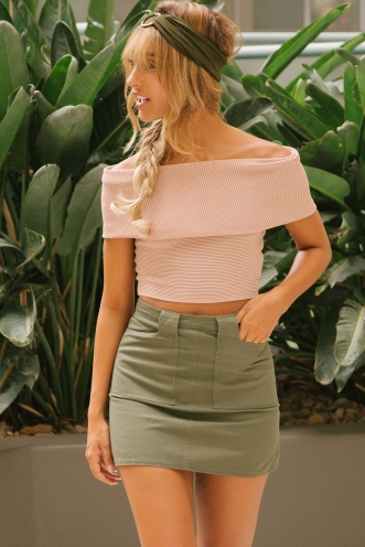 Paz crop top - Beige