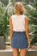 Brea button up skirt - Blue denim