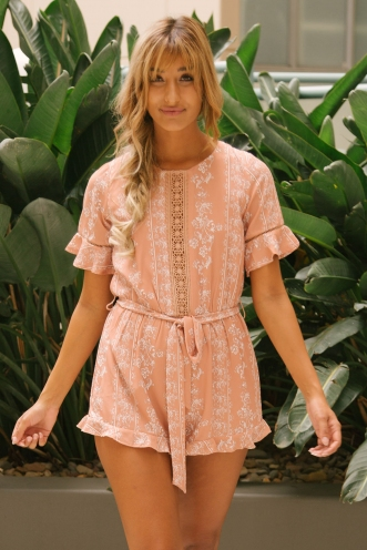 Pippy playsuit - Butterscotch print