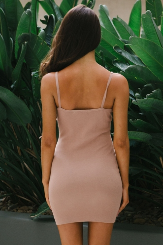 Talisha bodycon dress - Beige