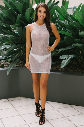 Good fortune dress - Silver