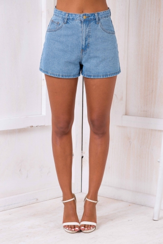 Poppi denim shorts - Blue