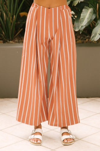 Sugar plum pants- Brown stripe