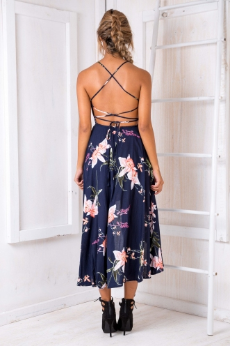 Zula dress - Navy print