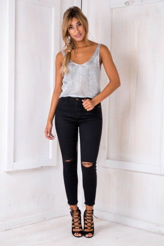Caitie high rise jeans - Black