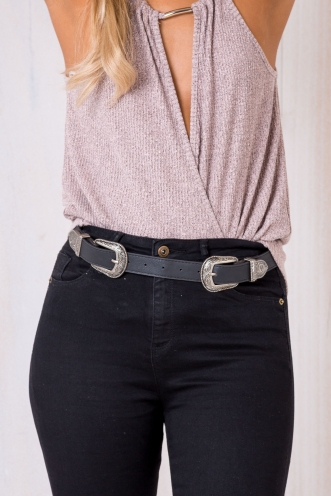 Allira Double Buckle Belt