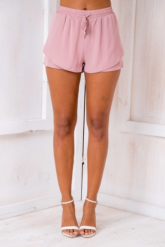 Belle shorts- Dusty pink