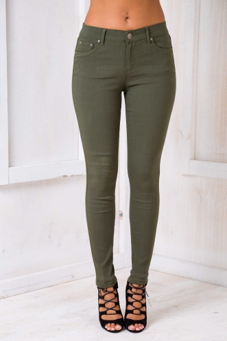 Coming home Skinny Jeans - Khaki