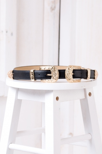Colby Double Buckle Belt - Gold
