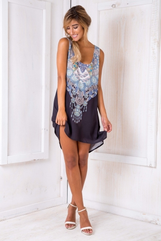 Bonnie Shift Dress - Jewell Print