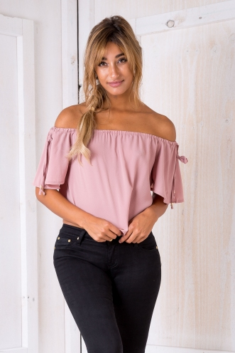 Belle crop top - Dusty pink