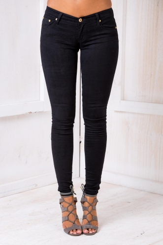 Simone Jegging - Black Suede Feel