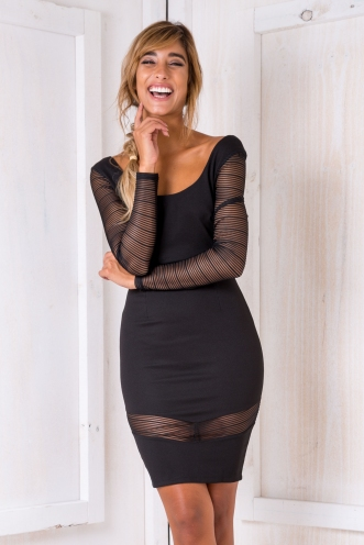Addicted to You Bodycon Dress - Black