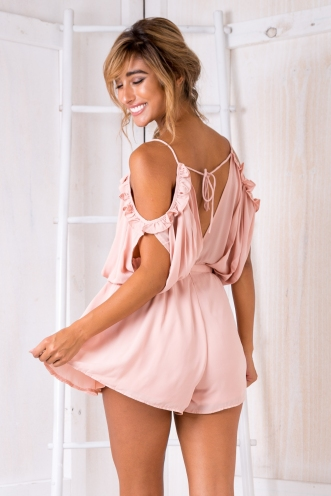 Sabine Playsuit - Dusty Pink
