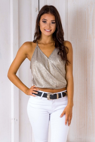 Heather Sparkle Top - Gold
