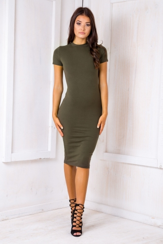 Verona t- shirt dress - khaki