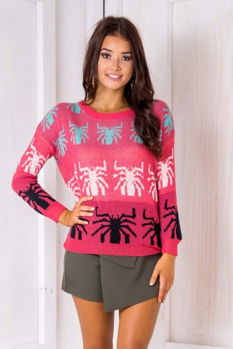 Ebony Jumper - Pink