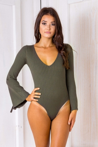 Tiffany Bodysuit - Khaki