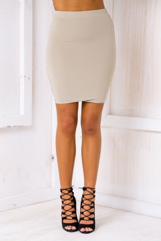 Zooey Skirt - Light Khaki