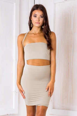 Zooey Crop - Light Khaki