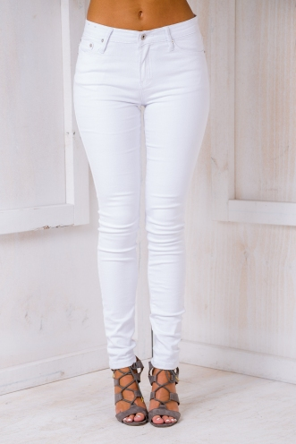 Ashleigh High Rise Jeans - White