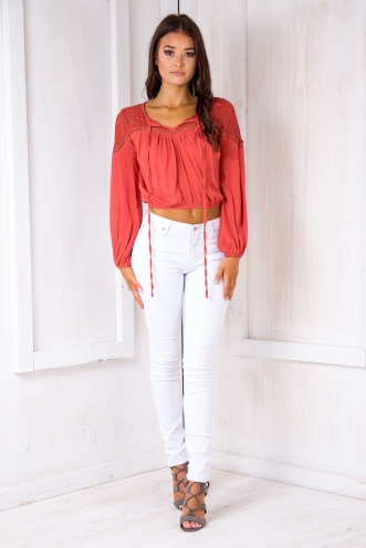 Selma Top - Light Maroon