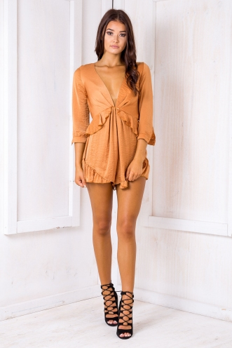 Fleur Playsuit- Burnt Orange