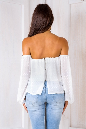 Matilda pop top - White