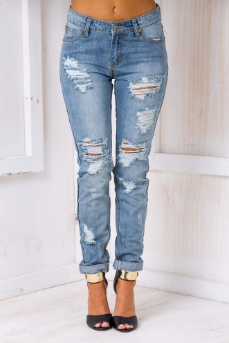 Phillipa Boyfriend Jeans- Denim