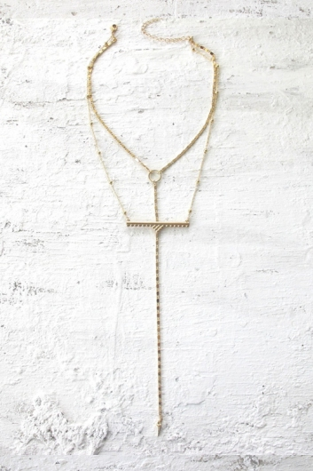 Wanderer bar necklace - Gold