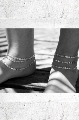 Minc collections - Venice ankle set - Silver
