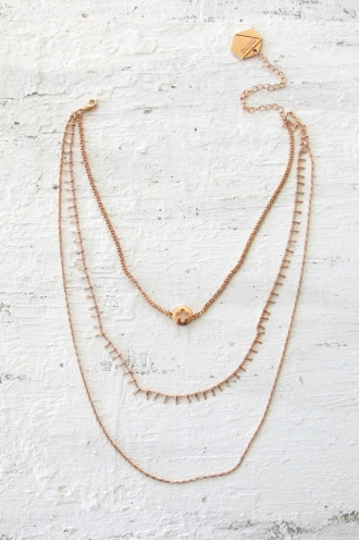 Minc collections - Luxe triple layer necklace - Rose Gold