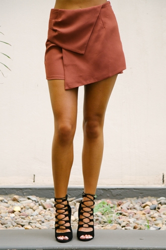 Samantha desert skort - Burnt brown