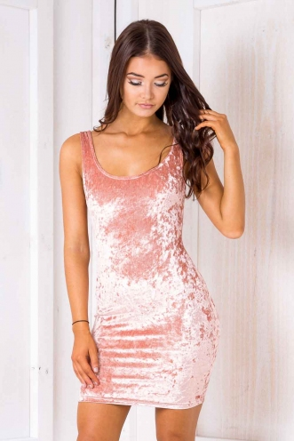 Sabina dress - Pink velvet