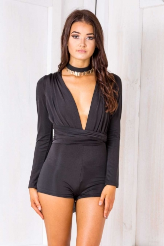 Paula playsuit - Black