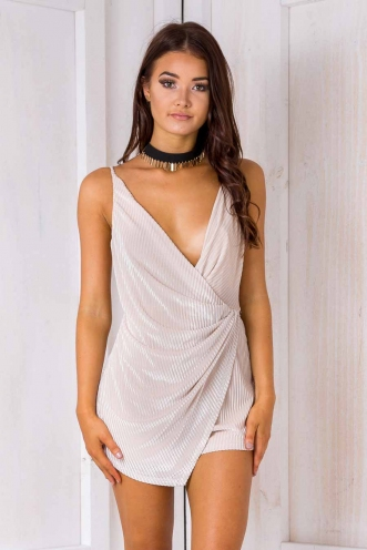 Frankie Playsuit - Cream Velvet