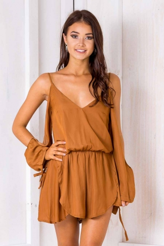 Zara playsuit - Tan