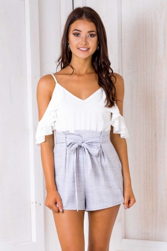 Tomislava playsuit - White/ Grey